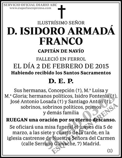 Isidoro Armadá Franco
